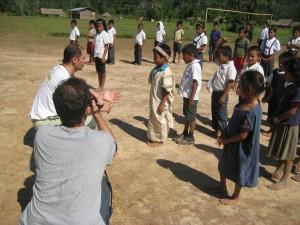 Niños de la Escuela Primaria de la C.N. de Chauja